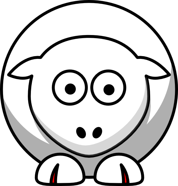 Sheep looking straight white. Foot clipart toenails