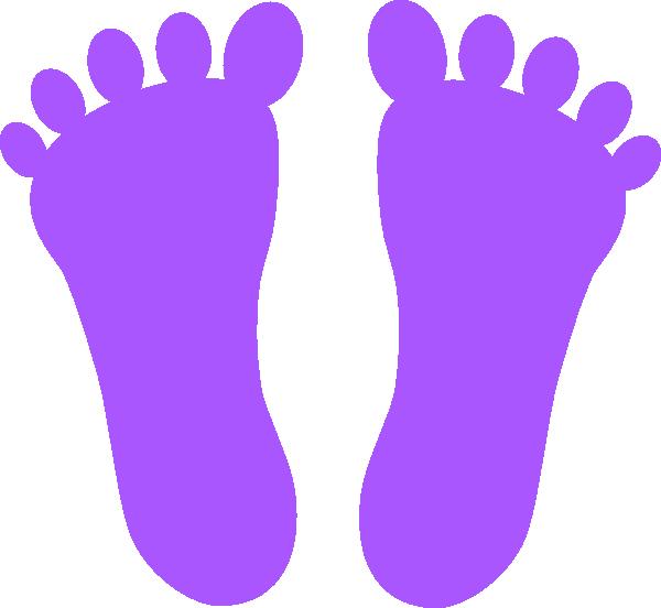 Footprints clip art at. Footprint clipart purple