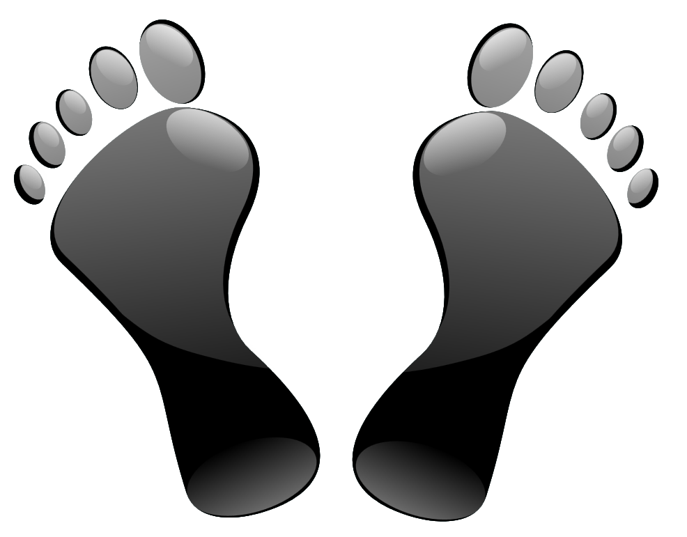 Footsteps clipart transparent background. Walking feet free download