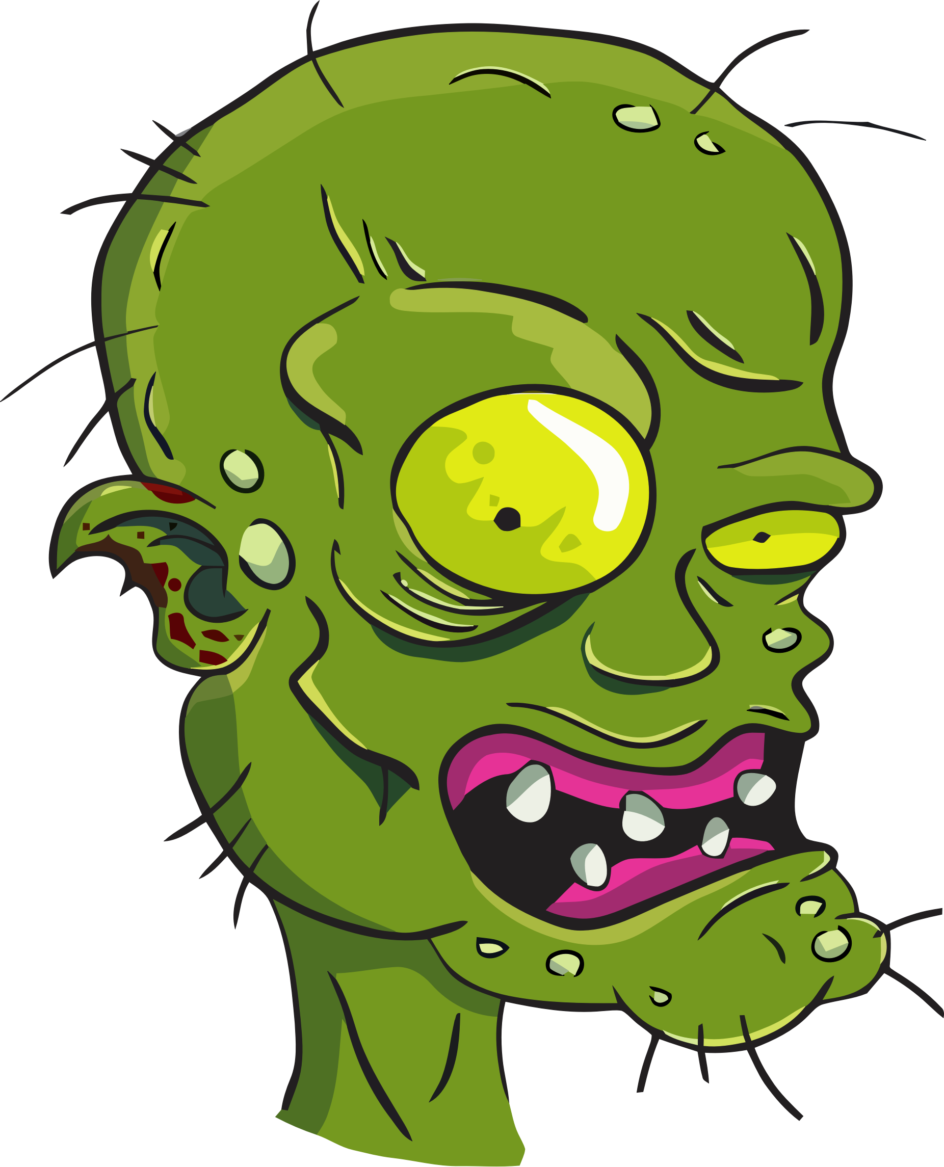 Zombie clipart outline.  collection of face