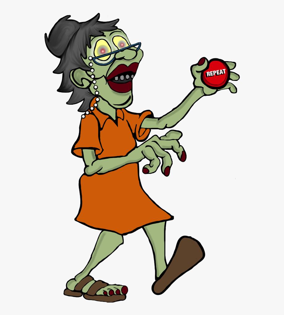 Girl cartoon . Zombie clipart foot