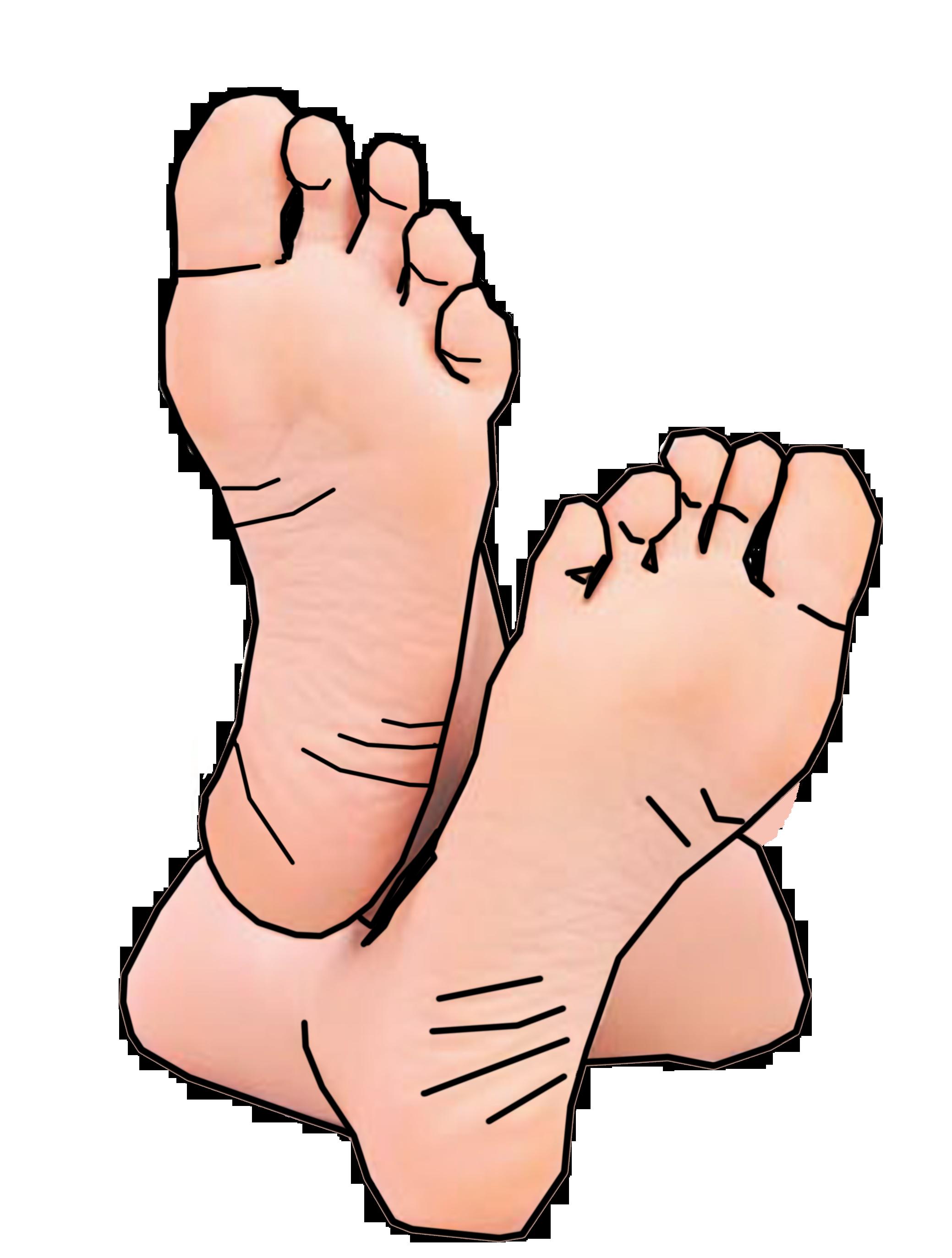 Bare feet clip art. Nails clipart clean habit