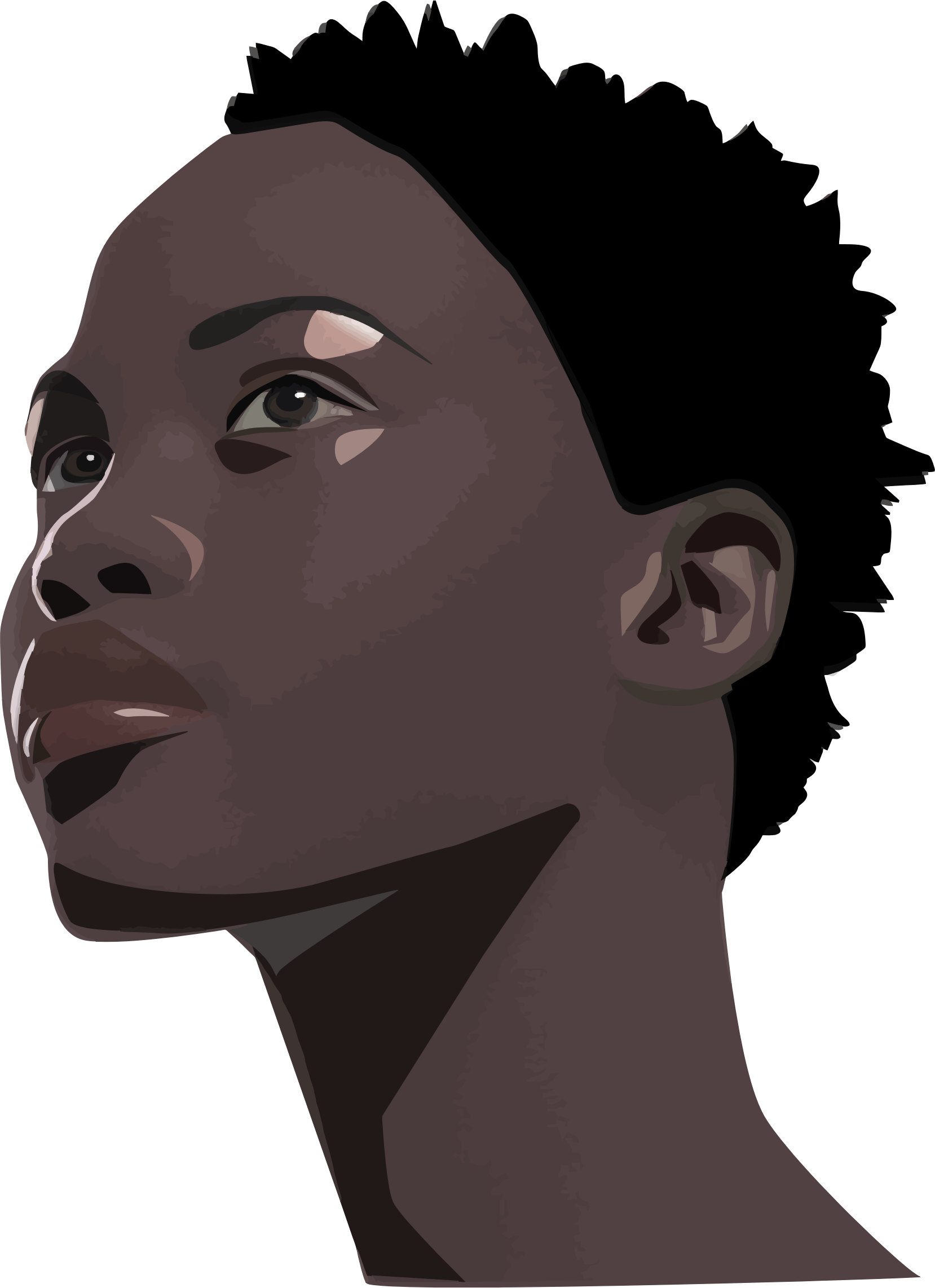 Female clipart afro. African woman portrait big