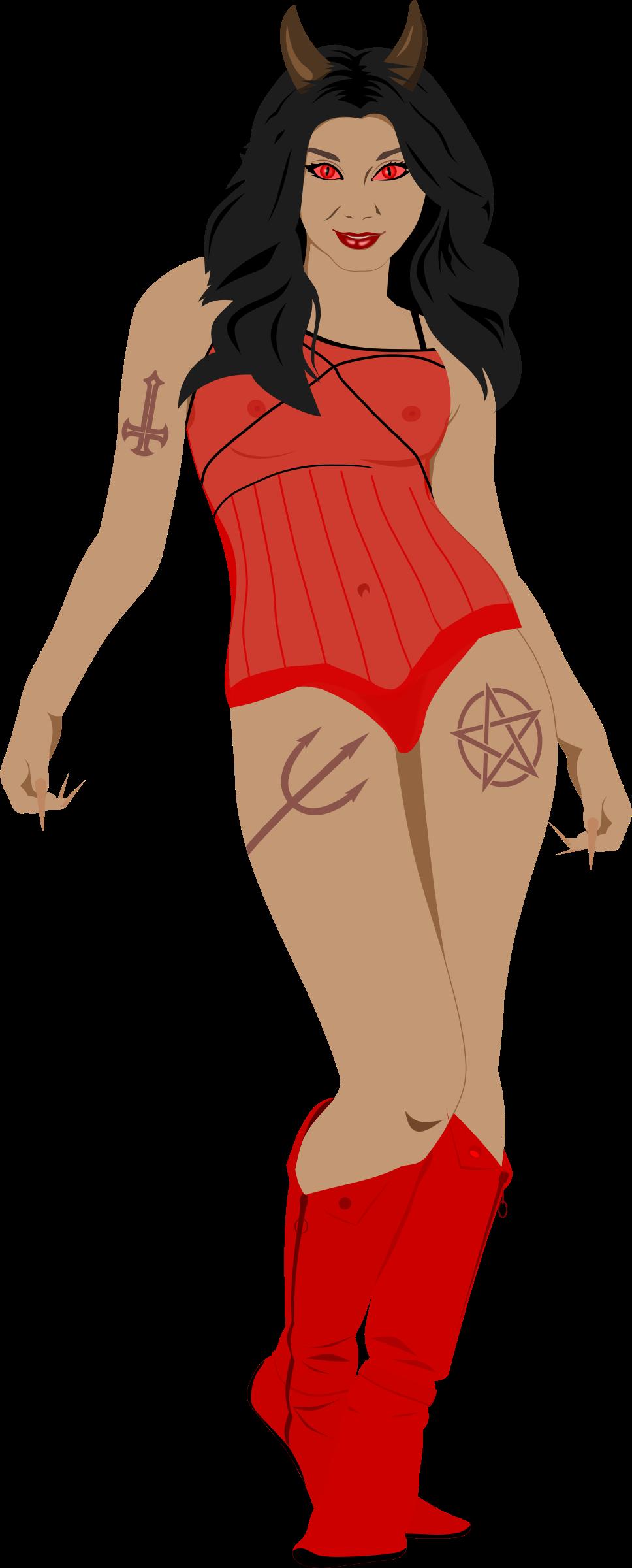 Female clipart angry. Devil girl frames illustrations