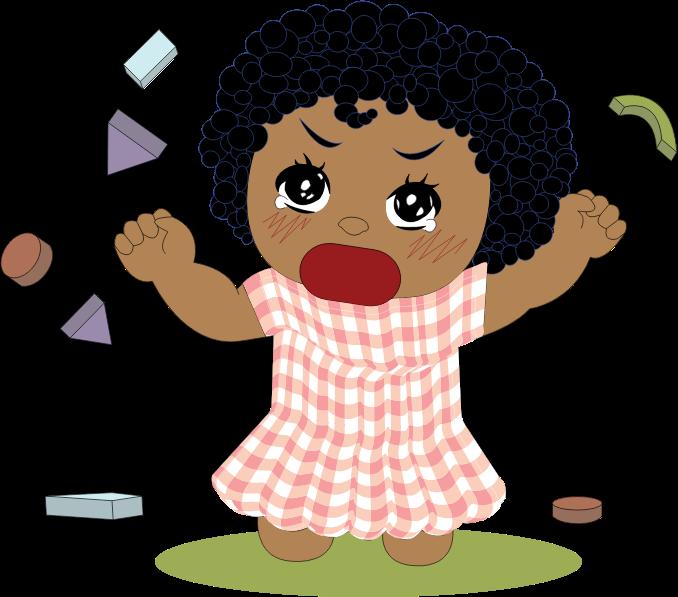 Female clipart angry. Little girl tantrum medium