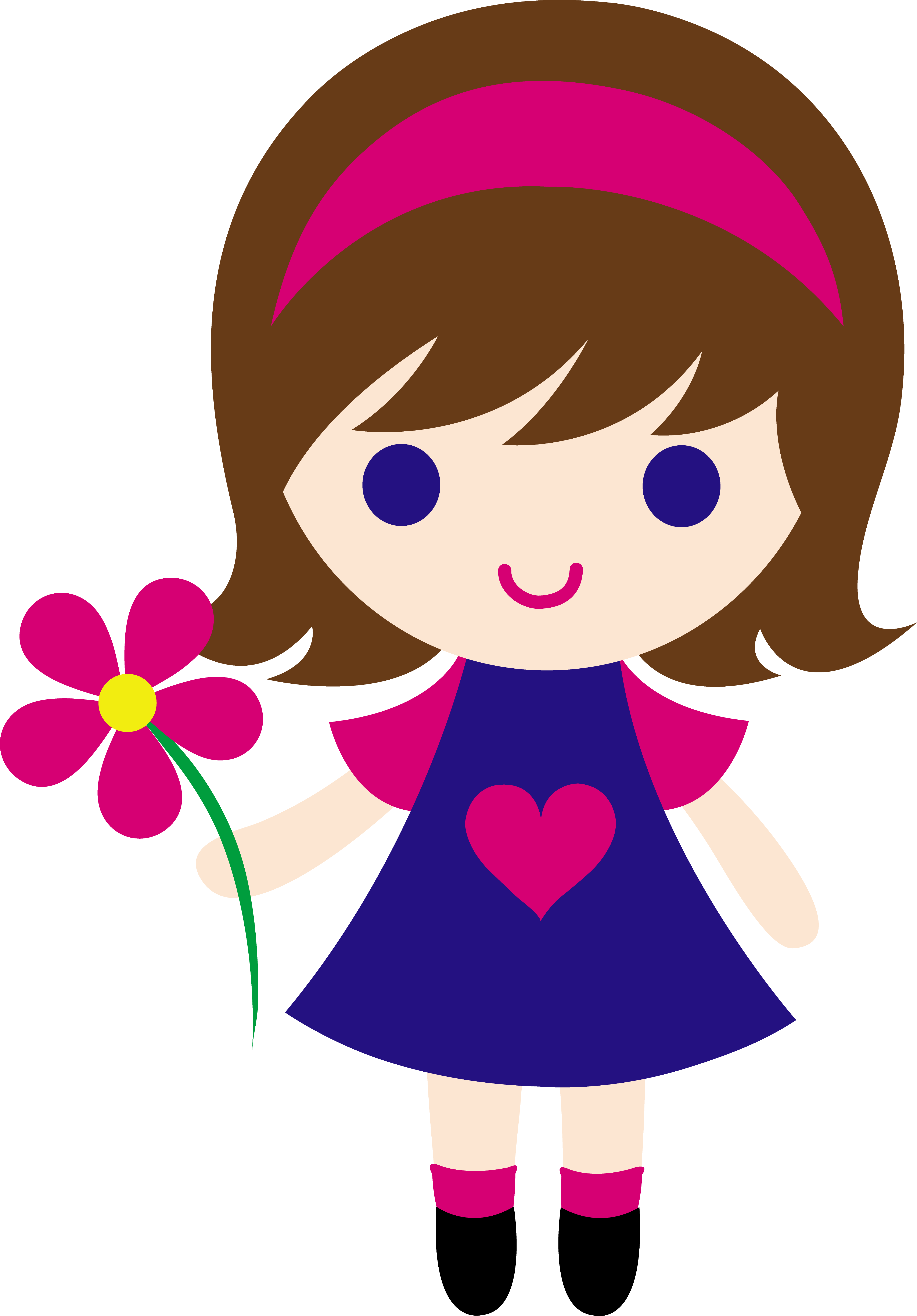 Girls clipart animated. Cartoon girl cliparts zone