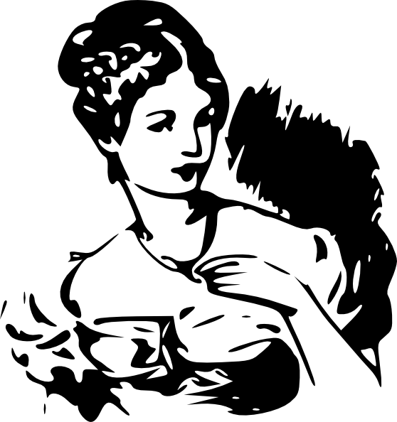 Lady clipart saree. Clip art at clker