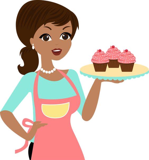 Image du blog zezete. Female clipart baking