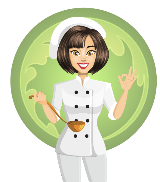 Chef png na recept. Female clipart baking