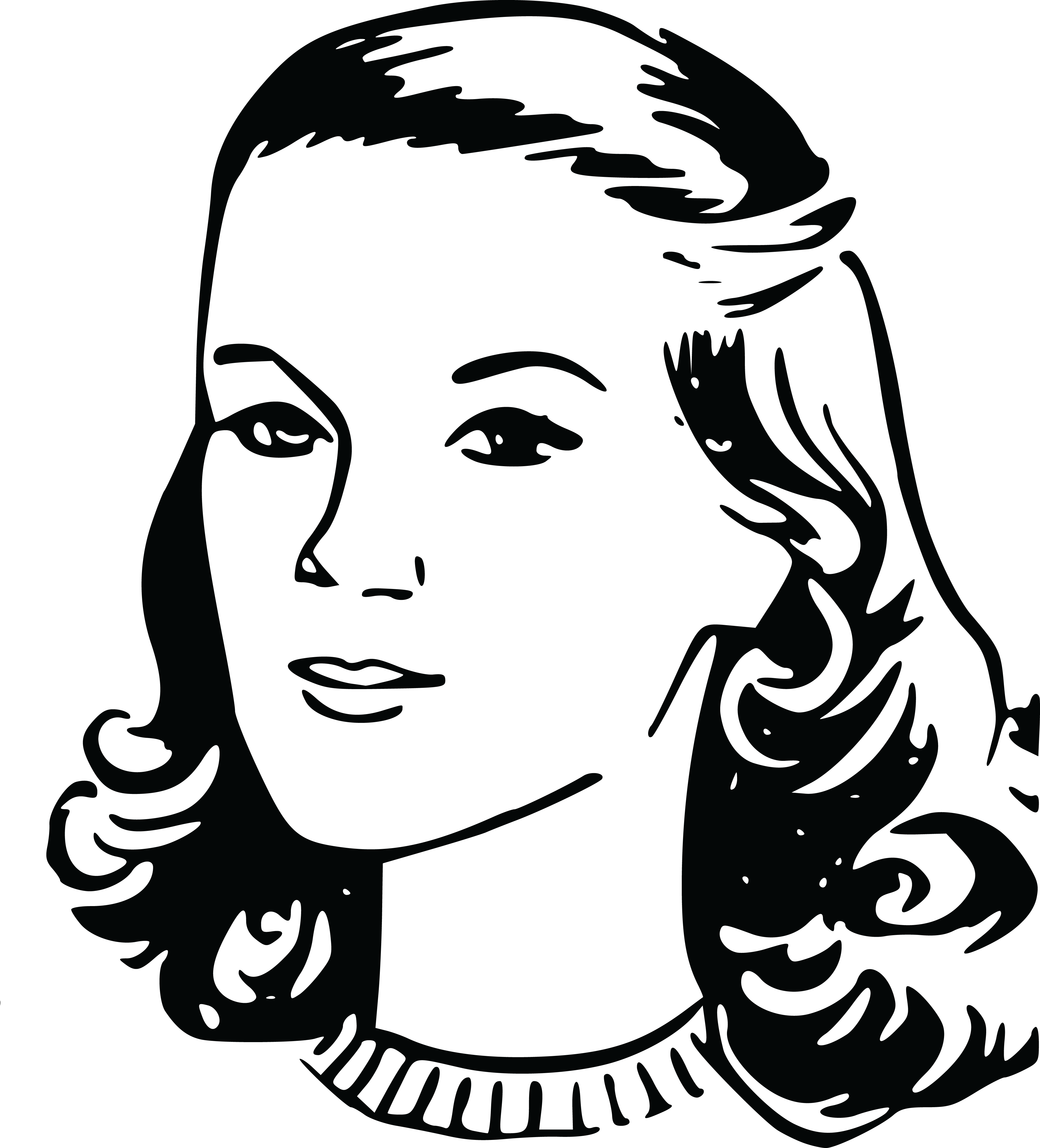 collection of lady. Female clipart black and white