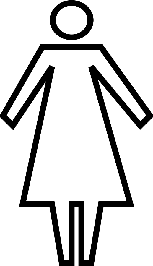 Woman panda free images. Female clipart black and white