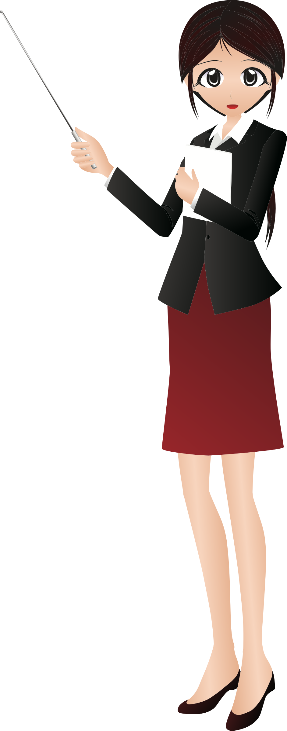 Instructor big image png. Female clipart business suit