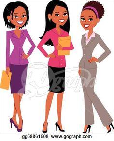 Professional ethnic women . Female clipart career woman