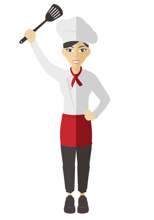 Bbq chef png transparent. Female clipart caterer