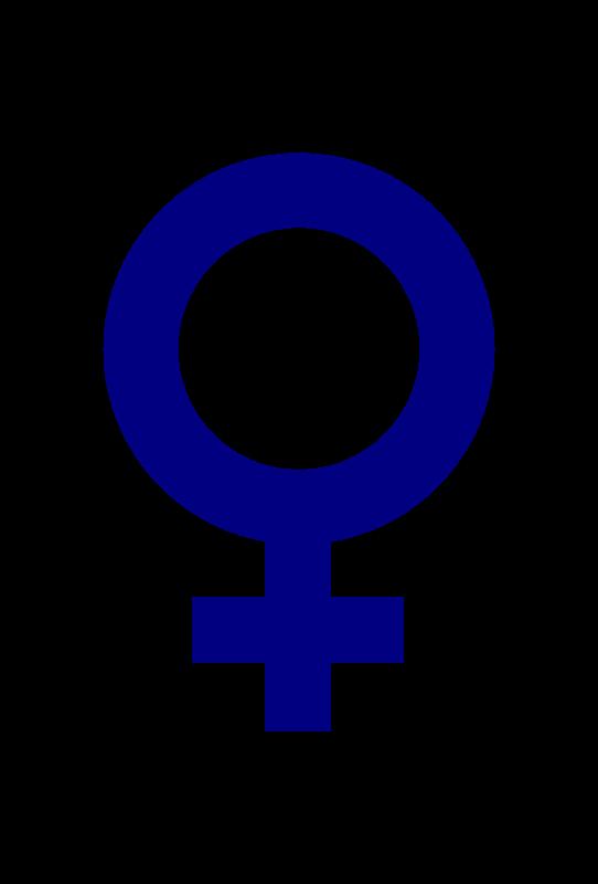 Symbol medium image png. Female clipart female gender