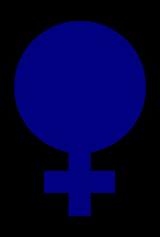 Female clipart female gender. Symbol filled medium image
