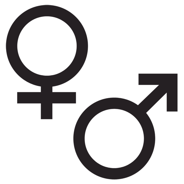 Male and symbol tattoo. Female clipart female gender