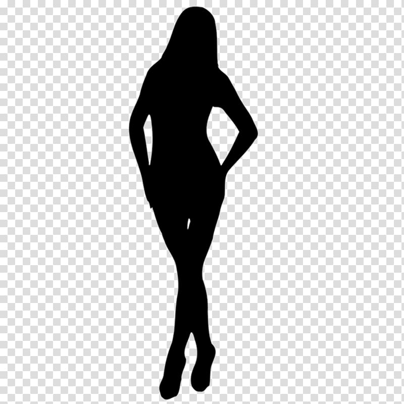 Silhouette woman transparent background. Female clipart female human