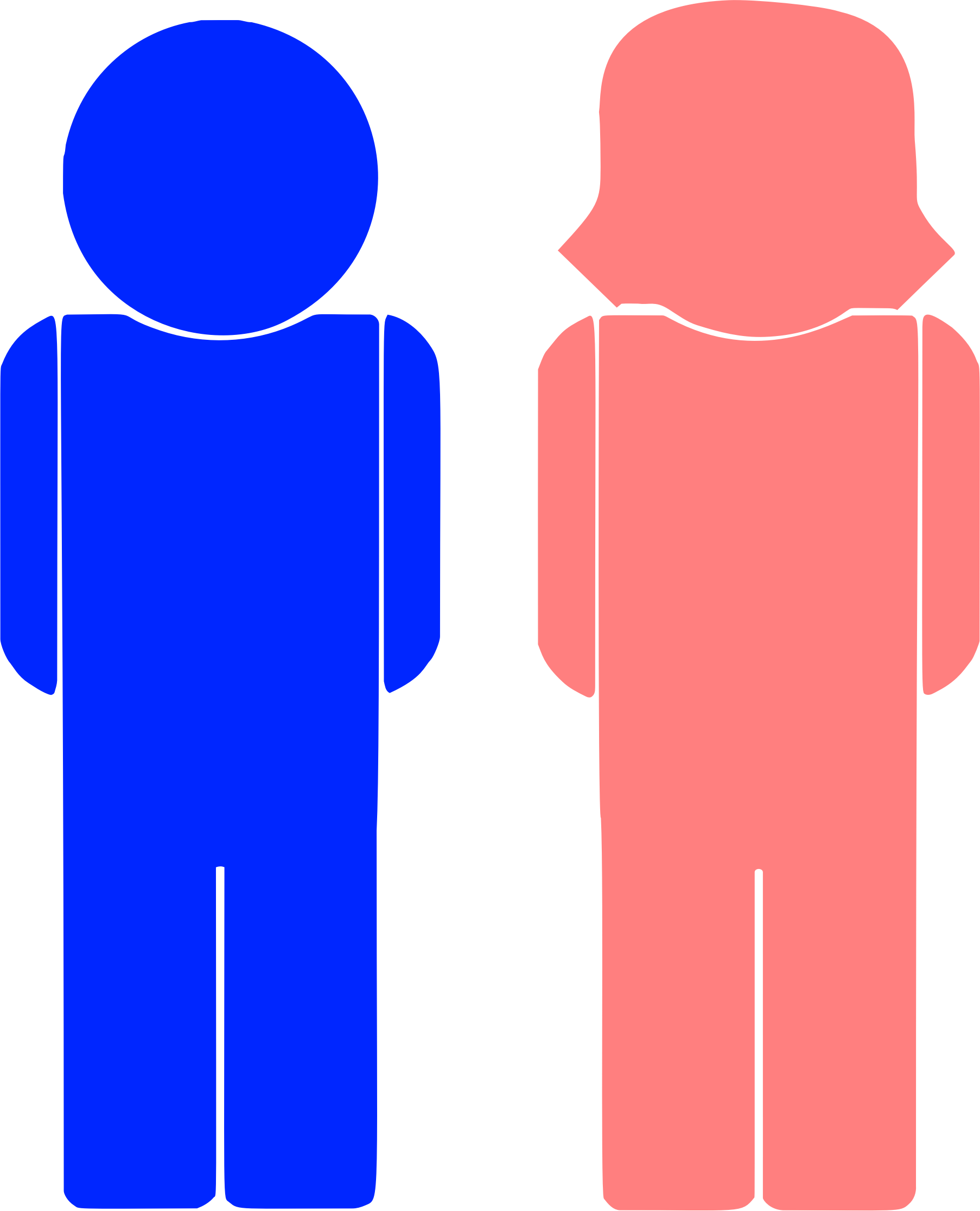 Male and female icons. Politics clipart political man