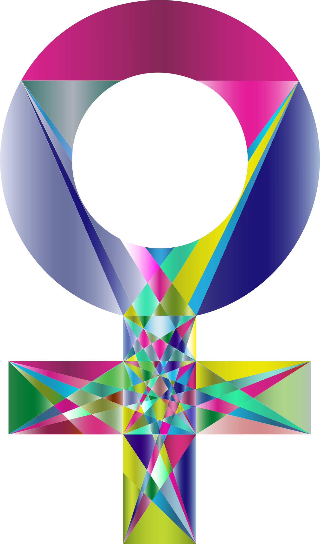 Prismatic geometric sign big. Female clipart feminine