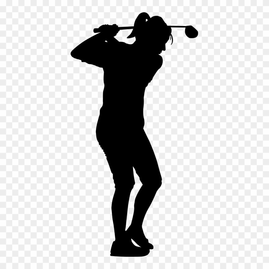Golfer clipart female golfer. Download silhouette golf stroke