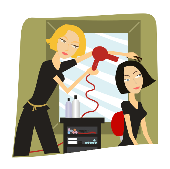 collection of salon. Hairdresser clipart nice hair