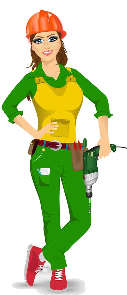 Female clipart handyman.  route c tax