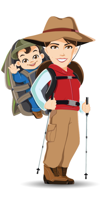 Welcome lady hubpicture pin. Female clipart hiking