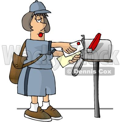 Mailbox clipart mail carrier. Pin on envelopes