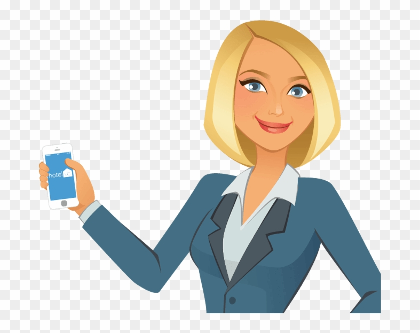 Woman cartoon hd png. Manager clipart female manager