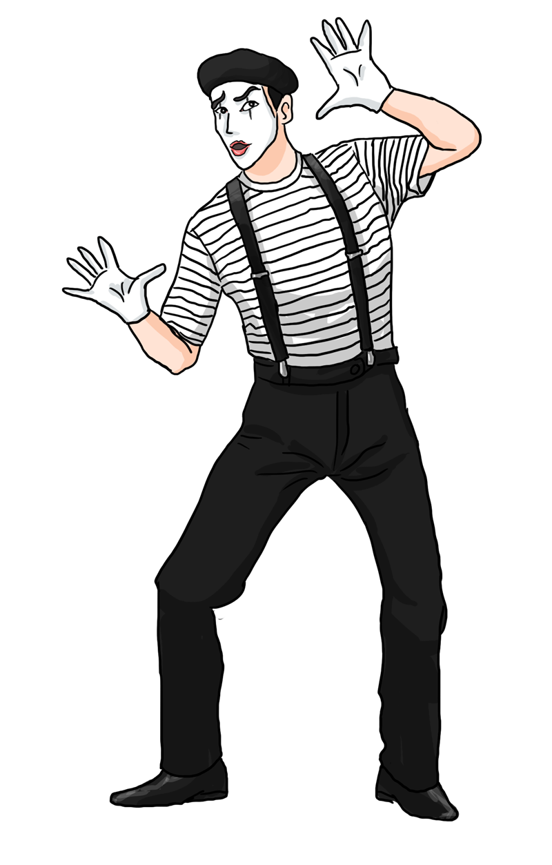 Mask clipart mime.  collection of artist