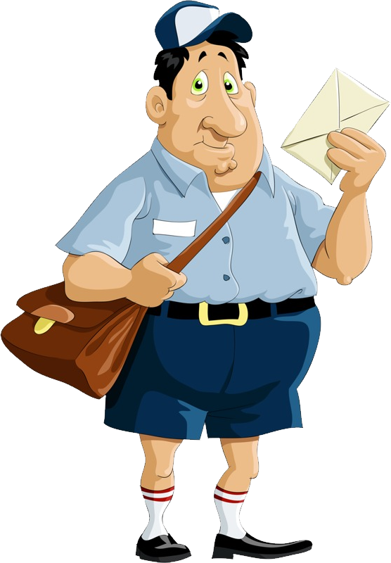 Mail clipart postal worker. Postman png images free