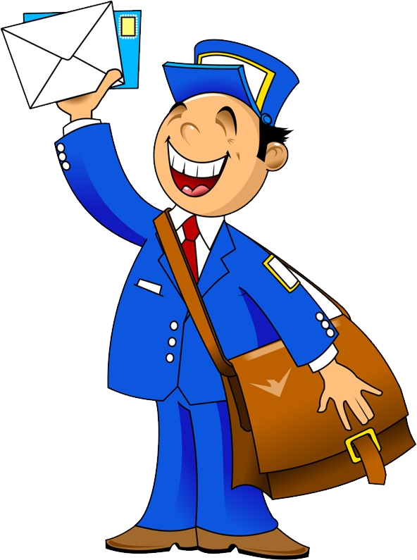 Postman png images free. Mail clipart postal worker