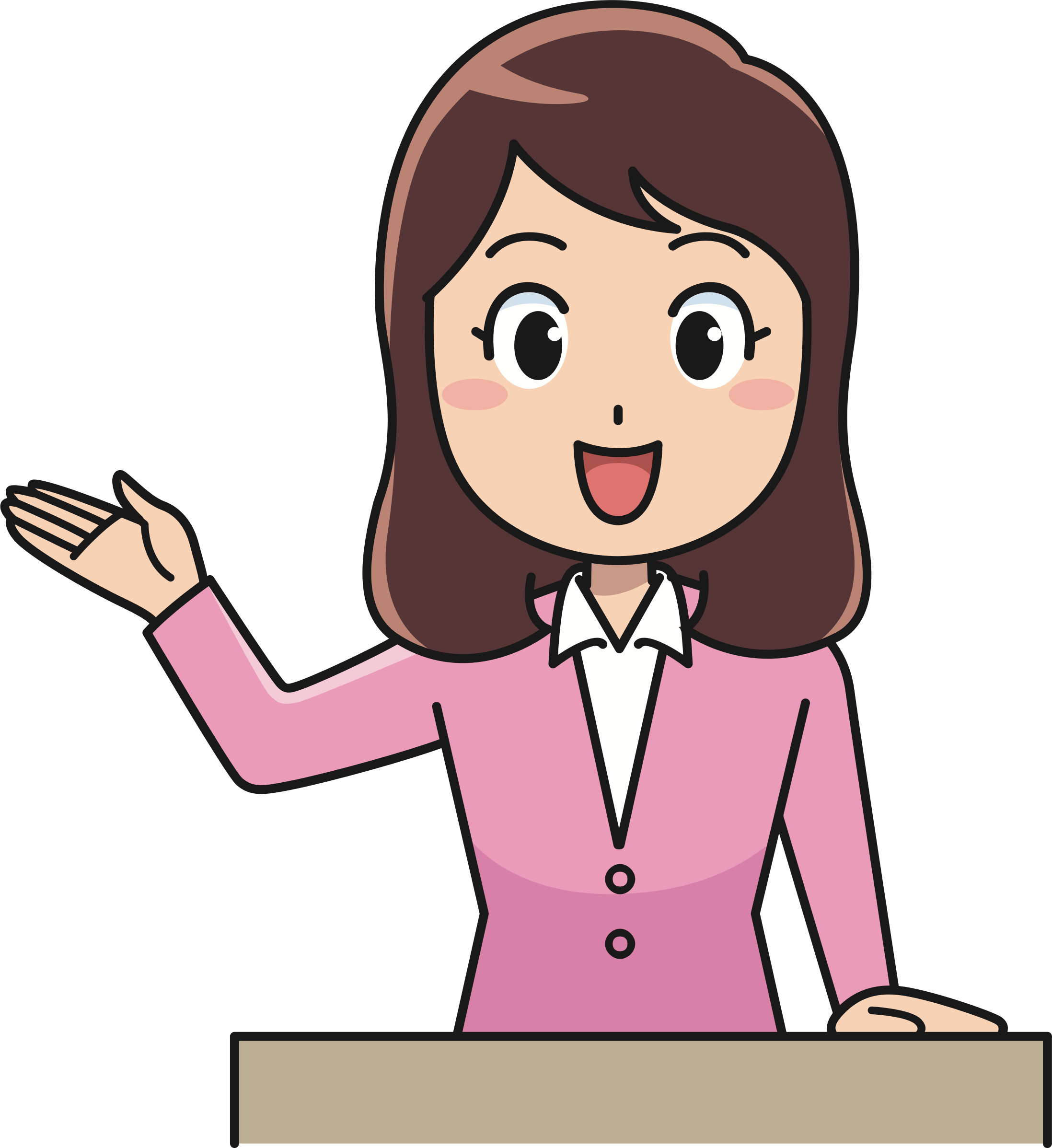Female instructor big image. Lady clipart professor
