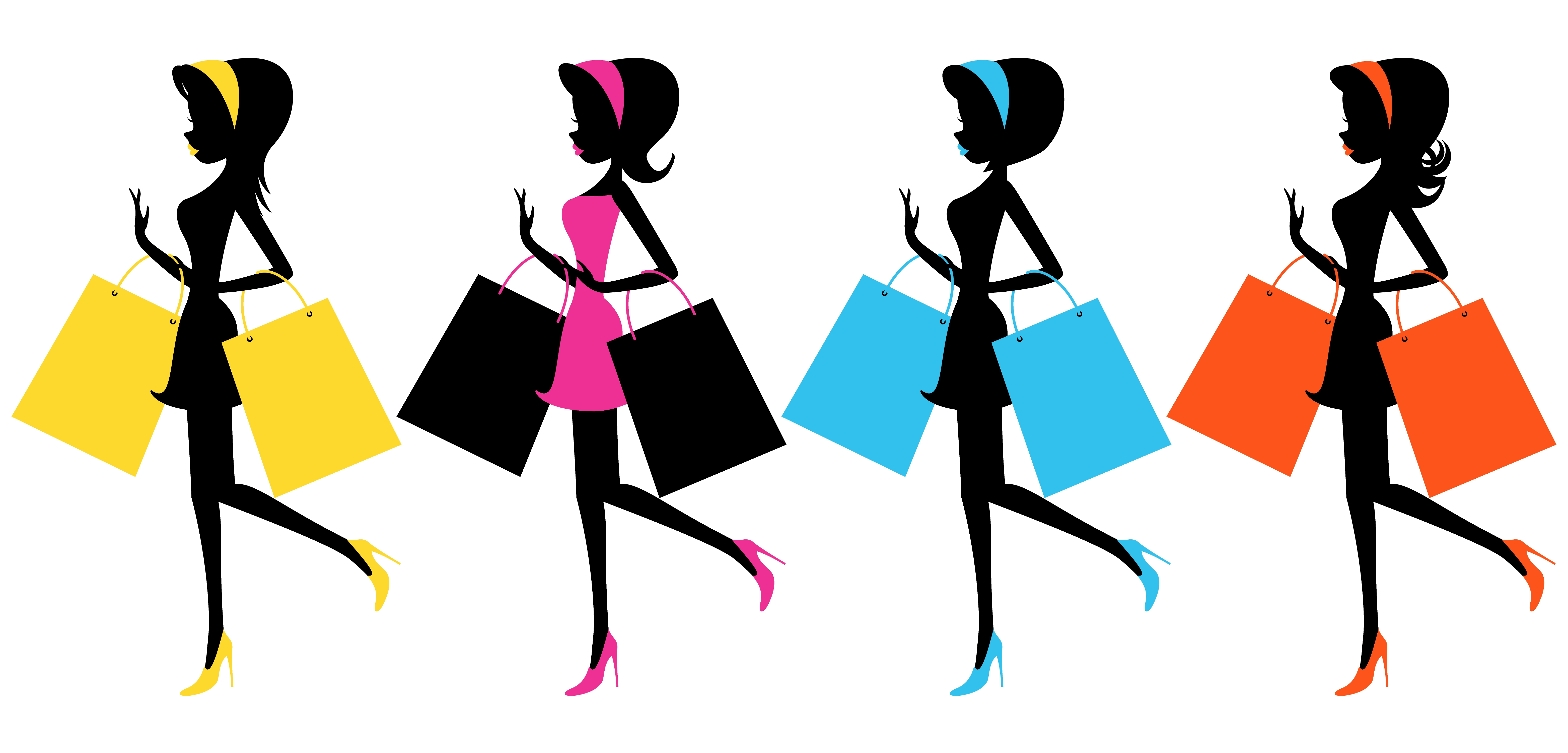Mall clipart personal shopper. Free shopping girl cliparts