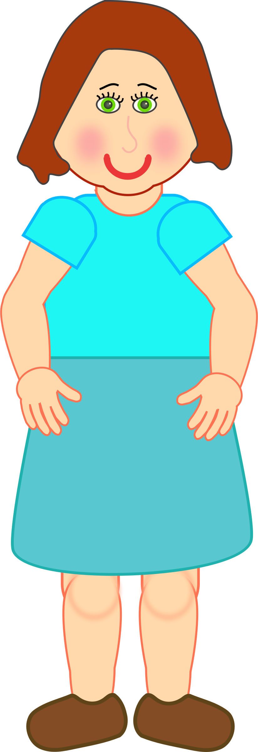 Female clipart standing. Woman big image png