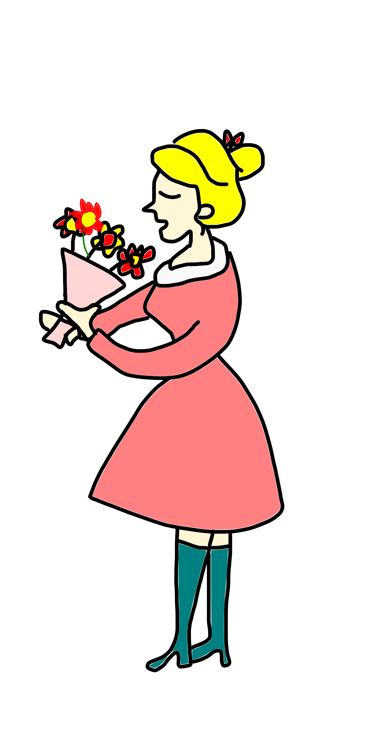 Flower girl free download. Lady clipart reporter