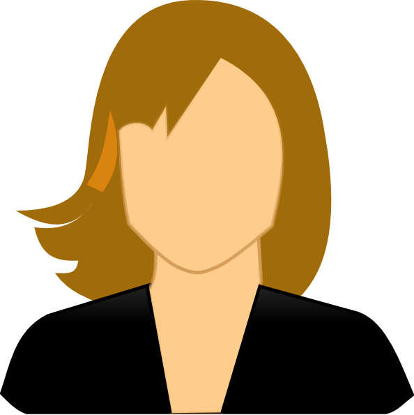 Facebook profile icon. Female clipart tour guide