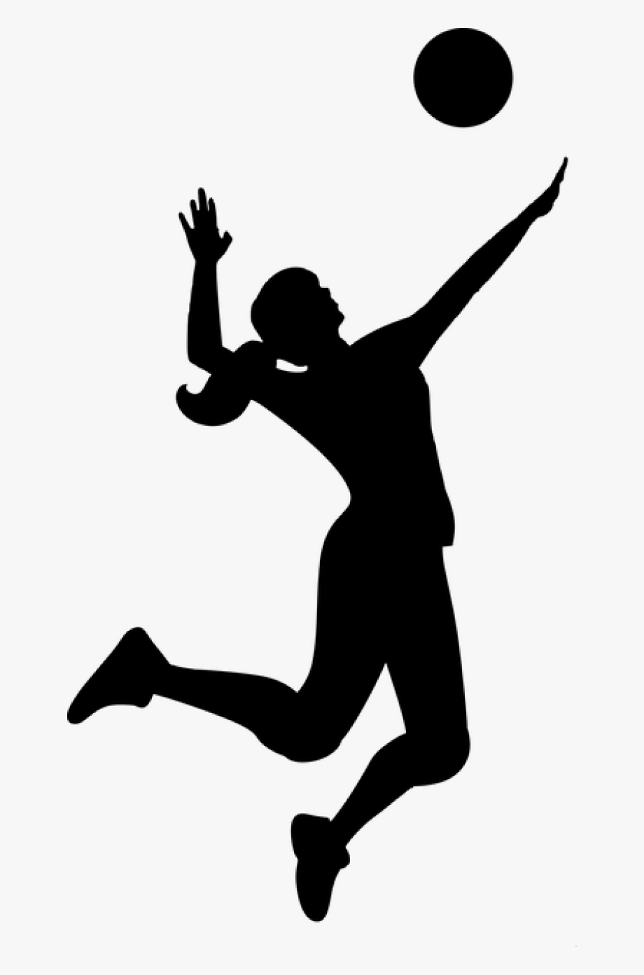 Volleyball clipart female volleyball player. Silhouette match sport
