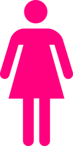 Female clipart. Pink clip art at