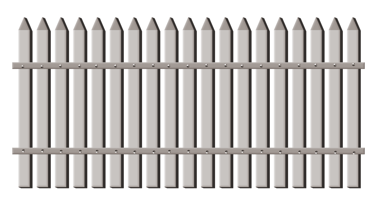Fence clipart. Transparent garden png gallery