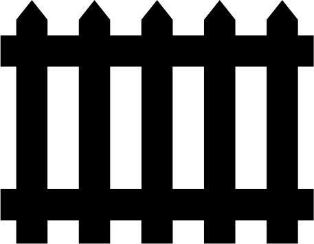 Picket letters panda free. Fence clipart