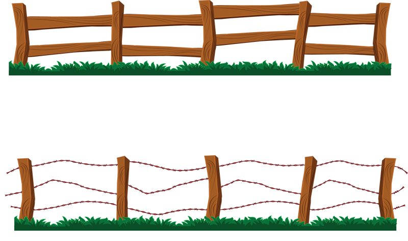 Barn fence kid farm. Construction clipart barrier