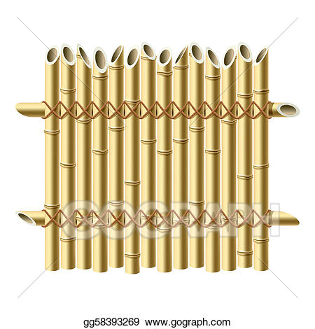 Fence clipart bamboo fence. Vector stock illustration gg