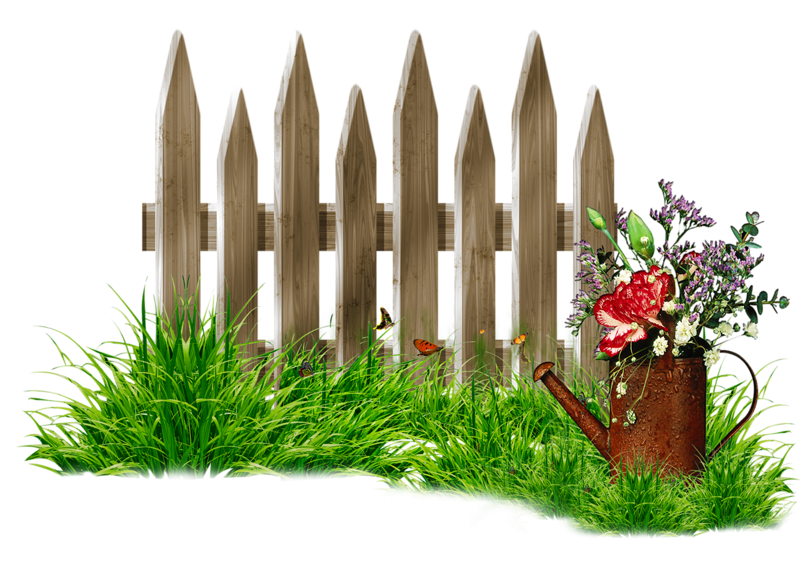 Forgetmenot garden fences. Fence clipart bamboo fence