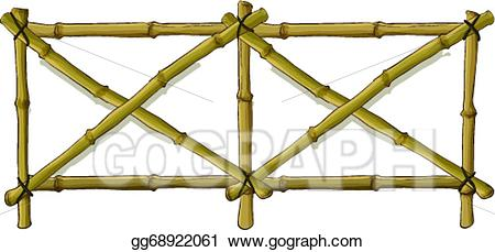 Vector stock illustration gg. Fence clipart bamboo fence