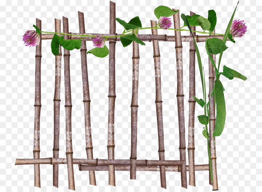 Cartoon garden tree transparent. Fence clipart bamboo fence