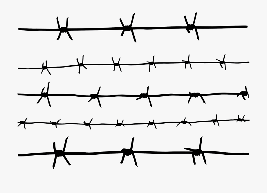 Fence clipart barbed wire fence. Barb svg drawing