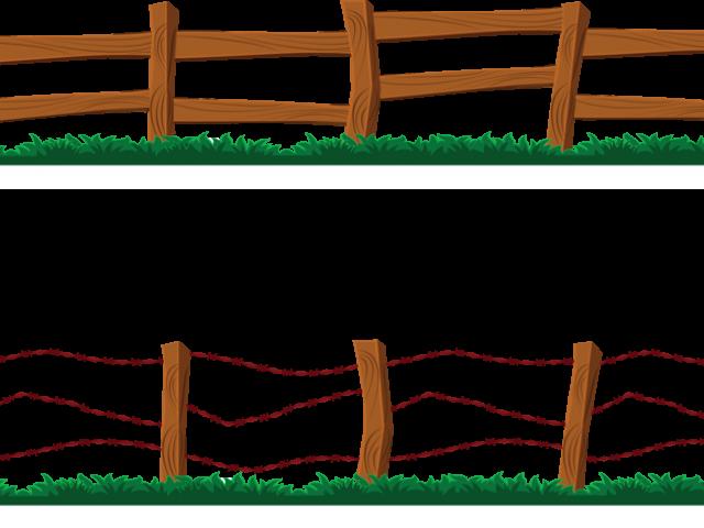 Farm clip art vector. Fence clipart barnyard