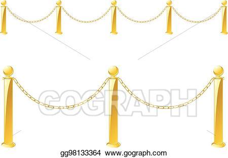 Fence clipart barrier. Vector art metal stand